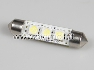 Auto Led Lampen : Led lamp festoon leds white for cars with can bus